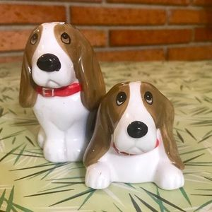 VTG Beagle/Basset Hound Dog Salt & Pepper Shakers